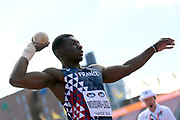 Fred Moudani-Likibi (FRA) competes in Shot Put Men during the IAAF World U20 Championships 2018 at Tampere in Finland, Day 1, on July 10, 2018 - Photo Julien Crosnier / KMSP / ProSportsImages / DPPI