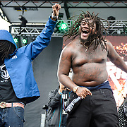 WASHINGTON, DC - August 23rd, 2014 - Local rapper Fat Trel performs at the 3rd annual Trillectro Music Festival at RFK Stadium in Washington, D.C. (Photo by Kyle Gustafson / For The Washington Post)