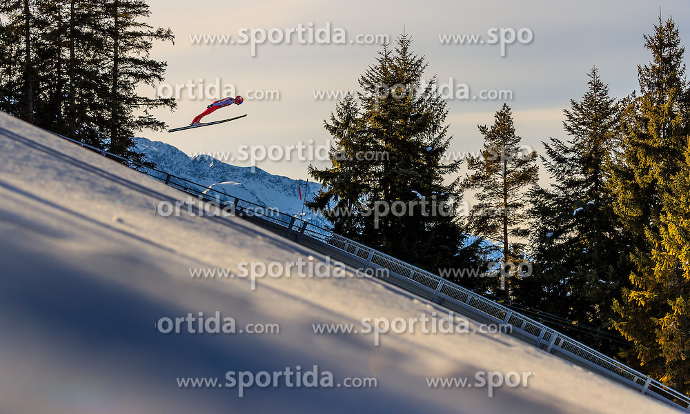 28.01.2017, Casino Arena, Seefeld, AUT, FIS Weltcup Nordische Kombination, Seefeld Triple, Skisprung, im Bild Eric Frenzel (GER) // Eric Frenzel of Germany in action during his Trail Jump of Skijumping of the FIS Nordic Combined World Cup Seefeld Triple at the Casino Arena in Seefeld, Austria on 2017/01/28. EXPA Pictures © 2017, PhotoCredit: EXPA/ JFK
