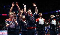 MEN'S EHF EURO 2020<br /> Portugal - Norway 12 jan 2020<br /> Trondheim Spektrum<br /> Trondheim, Norway<br /> <br /> De norske gutta med Sander Sagosen i spissen, jubler etter kampen<br /> <br /> <br /> <br /> <br /> Foto : Arve Johnsen, Digitalsport