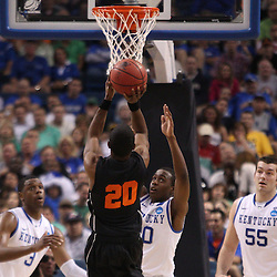Mar 17, 2011; Tampa, FL, USA; Princeton Tigers guard Douglas Davis (20) shoots against the Kentucky Wildcats during first half of the second round of the 2011 NCAA men's basketball tournament at the St. Pete Times Forum.  Mandatory Credit: Derick E. Hingle