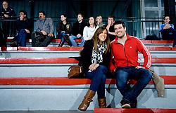 Couple during the 1/ 8 Men's European Handball Challenge Cup match between RD Slovan, Slovenia and Ystads IF, Sweden, on February 21, 2009 in Arena Kodeljevo, Ljubljana, Slovenia. Slovan defeated Ystads 37-27 and qualified to quarterfinals. (Photo by Vid Ponikvar / Sportida)
