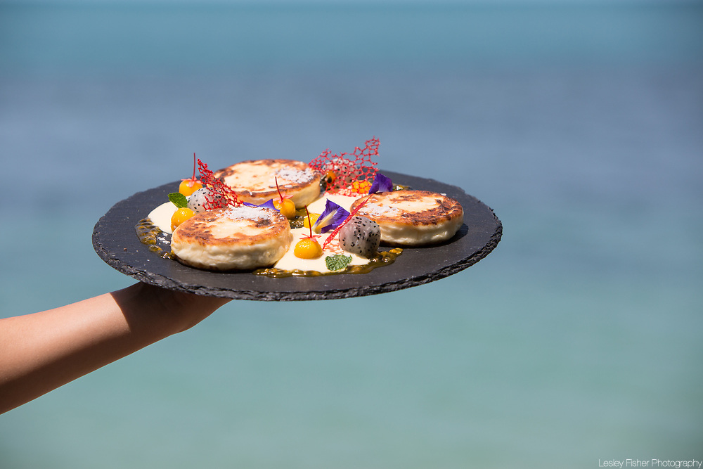 Breakfast at Sea and Sky beach front restaurant located on Ban Tai beach, Koh Samui, Thailand