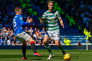 Kristoffer Ajer of Celtic FC during the Ladbrokes Scottish Premiership match between Rangers and Celtic at Ibrox, Glasgow, Scotland on 12 May 2019.