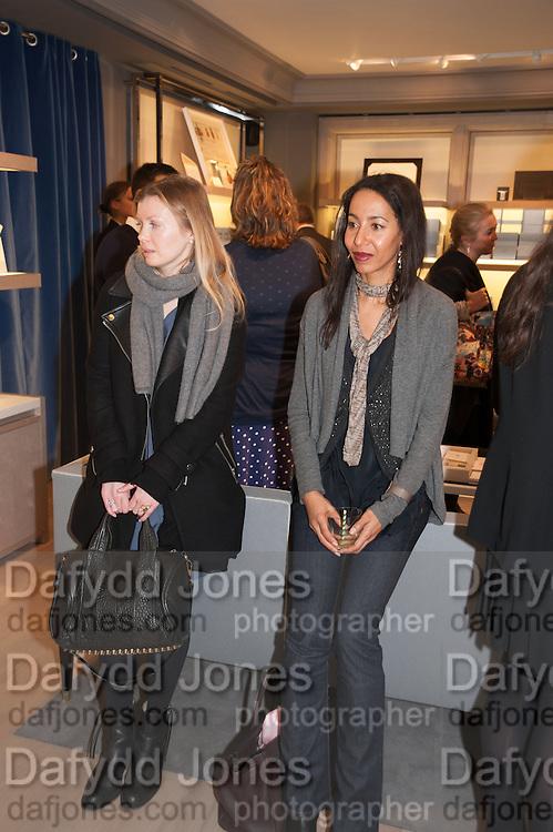 AMY BRADFORD; MICHELLE OGUNDEHIN, Smythson Sloane St. Store opening. London. 6 February 2012.