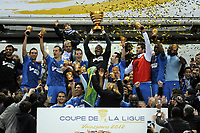 FOOTBALL - FRENCH LEAGUE CUP 2011/2012 - FINAL - OLYMPIQUE LYONNAIS v OLYMPIQUE MARSEILLE - 14/04/2012 - PHOTO JEAN MARIE HERVIO / REGAMEDIA / DPPI - CELEBRATION MARSEILLE AFTER THE VICTORY