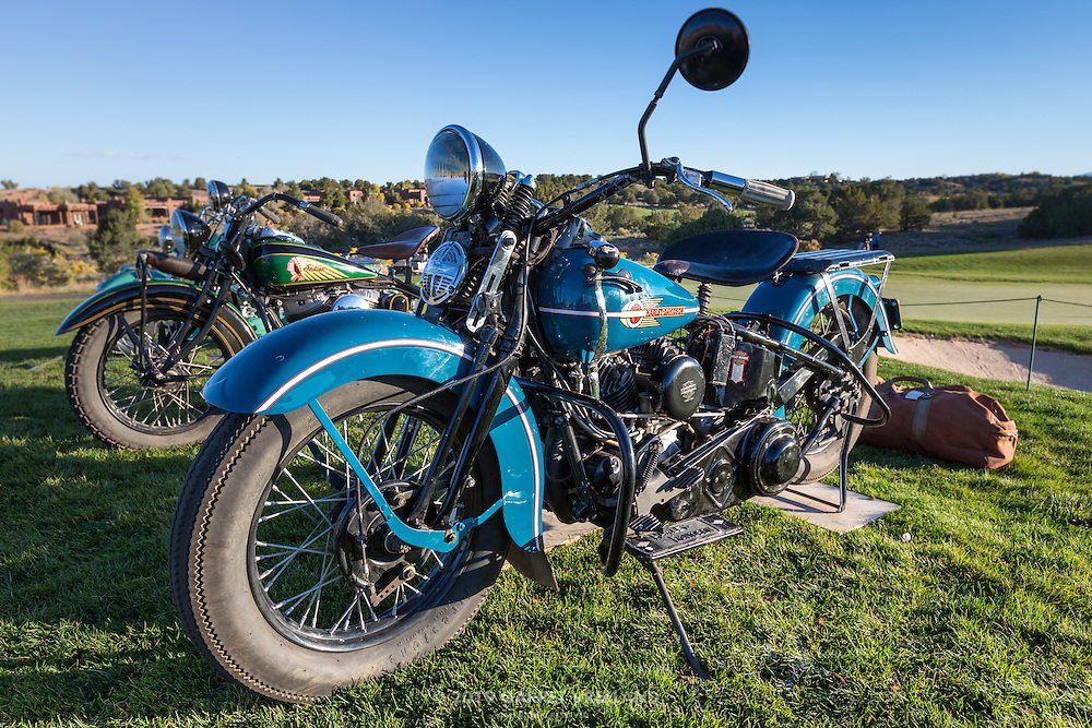 1938 Harley Davidson UH in the early morning light, pre-show, at the 2012 Santa Fe Concorso.
