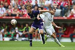 04.08.2015, Allianz Arena, Muenchen, GER, AUDI CUP, Real Madrid vs Tottenham Hotspur, im Bild Eric Dier (Tottenham Hotspur #15) im Zweikampf gegen Gareth Bale (Real Madrid CF #11) // during the 2015 Audi Cup Match between Real Madrid and Tottenham Hotspur at the Allianz Arena in Muenchen, Germany on 2015/08/04. EXPA Pictures © 2015, PhotoCredit: EXPA/ Eibner-Pressefoto/ Schüler<br /> <br /> *****ATTENTION - OUT of GER*****
