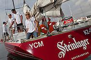 SPAIN, Alicante, 2nd November 2011. Volvo Ocean Race. Legends Regatta. Pippa Blake, on board Steinlager 2.