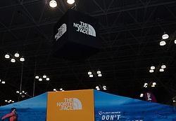 01-01-2013 ALGEMEEN: BVDGF NY MARATHON: NEW YORK <br /> Lange rijen in het Health and Fitness EXPO center voor het ophalen van de startnummers / North Face stand<br /> ©2013-WWW.FOTOHOOGENDOORN.NL