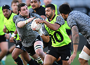 Richie Mo'unga, <br /> All Blacks training session at Eden Park ahead of the upcoming test series against France. Auckland, New Zealand. Thursday 7 June 2018. © Copyright photo: Andrew Cornaga / www.Photosport.nz