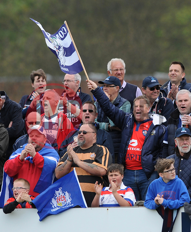 Bristol Rugby fans - Photo mandatory by-line: Dougie Allward/JMP - Mobile: 07966 386802 - 10/05/2015 - SPORT - Rugby - Sheffield - Abbeydale Dale Sports - Rotherham Titans v Bristol Rugby - Greene King IPA Championship