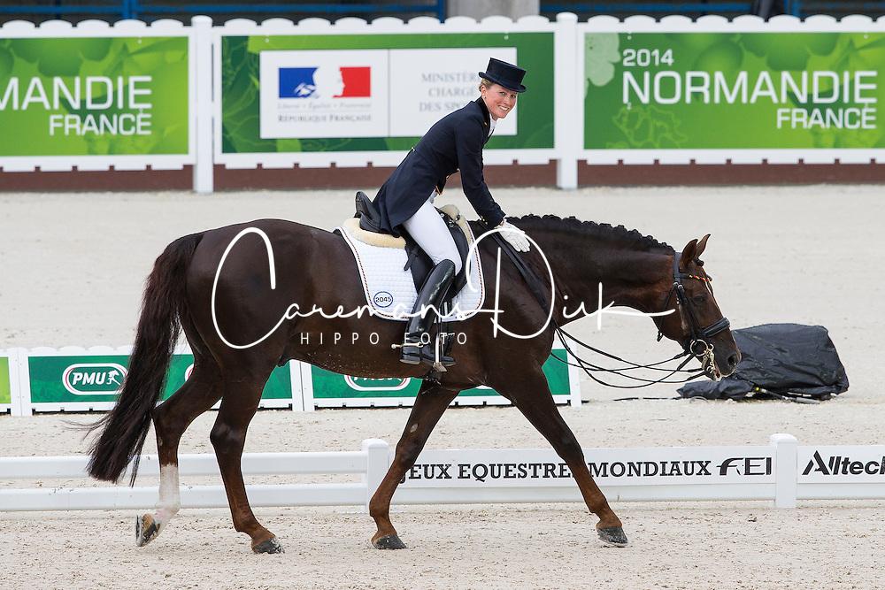 Helen Langehanenberg, (GER), Damon Hill NRW - Grand Prix Team Competition Dressage - Alltech FEI World Equestrian Games&trade; 2014 - Normandy, France.<br /> &copy; Hippo Foto Team - Leanjo de Koster<br /> 25/06/14