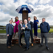 02.05.2018.        <br /> Limerick Racecourse launches Twilight Racing Series. <br /> Pictured are left to right, Patrick O'Callaghan, General Manager Limerick Racecourse, model, Chloe Walsh, bookie, Patrick Mulcahy, Seamus Mulvanney Bookmakers, John Davitt, Crescent Shopping Centre, Stephen Keeley, Fields The Jeweller, model, Emma Doran and Edward Daly, Seamus Mulvanney Bookmakers. Picture: Alan Place