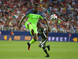SANTA CLARA, USA - Saturday, July 30, 2016: Liverpool's Divock Origi in action against AC Milan during the International Champions Cup 2016 game on day ten of the club's USA Pre-season Tour at the Levi's Stadium. (Pic by David Rawcliffe/Propaganda)