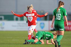 Frankie Brown of Bristol City shows her frustration - Mandatory by-line: Nizaam Jones/JMP - 27/01/2019 - FOOTBALL - Stoke Gifford Stadium - Bristol, England - Bristol City Women v Yeovil Town Ladies- FA Women's Super League 1