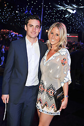 FAWN JAMES Soho Property owner and NICHOLAS LAWSON at the F1 Party in aid of Great Ormond Street Hospital Children's Charity held at Battersea Evolution, Battersea Park, London on 4th July 2012.