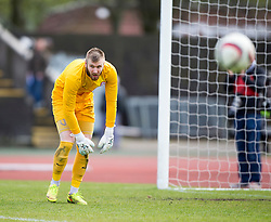 Brora Rangers Joe Malin.<br /> Edinburgh City 1 v 1 Brora Rangers, 1st leg, Pyramid Playoffs at Meadowbank, 25/4/2015.