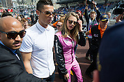 May 20-24, 2015: Monaco Grand Prix: Cara Delevingne and Cristiano Ronaldo