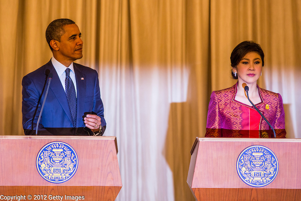 18 NOVEMBER 2012 - BANGKOK, THAILAND:   18, 2012 in Bangkok, Thailand. Obama will become the first serving US President to visit Myanmar during his four-day tour of Southeast Asia that will also include visits to Thailand and Cambodia.    PHOTO BY JACK KURTZ