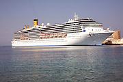 Costa Mediterrania cruise ship, Rhodes town, Rhodes, Greece