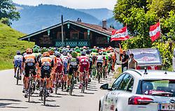 06.07.2017, Kitzbühel, AUT, Ö-Tour, Österreich Radrundfahrt 2017, 4. Etappe von Salzburg auf das Kitzbüheler Horn (82,7 km/BAK), im Bild das Peloton // the Peloton during the 4th stage from Salzburg to the Kitzbueheler Horn (82,7 km/BAK) of 2017 Tour of Austria. Kitzbühel, Austria on 2017/07/06. EXPA Pictures © 2017, PhotoCredit: EXPA/ JFK