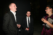 SEBASTIAN WRONG, MARK HOLMES AND FRANCA WRONG, Dinner given by Established and Sons to celebrate Elevating Design.  P3 Space. University of Westminster, 35 Marylebone Rd. London NW1. -DO NOT ARCHIVE-© Copyright Photograph by Dafydd Jones. 248 Clapham Rd. London SW9 0PZ. Tel 0207 820 0771. www.dafjones.com.