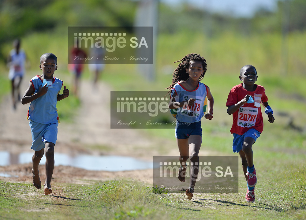 CAPE TOWN, SOUTH AFRICA - APRIL 30: children in the U/9 1km race during the Western Province Cross Country League at Pollsmoor Correctional Facility on April 30, 2016 in Cape Town, South Africa. (Photo by Roger Sedres/Gallo Images)