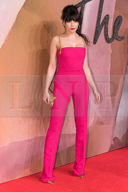 © Licensed to London News Pictures. 05/12/2016. DAISY LOWE arrives for The Fashion Awards 2016 celebrating the best of British and international fashion. London, UK. Photo credit: Ray Tang/LNP