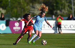Georgia Evans of Bristol City Women and Meg Campbell of Manchester City Women - Mandatory by-line: Paul Knight/JMP - 09/05/2017 - FOOTBALL - Stoke Gifford Stadium - Bristol, England - Bristol City Women v Manchester City Women - FA Women's Super League Spring Series