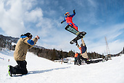 Tim Eddy jibs, Lucas Debari assists, and Liam Gallagher films at Iwatake, Hakuba, Japan.