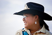 08 SEPTEMBER 2007 -- FT. DEFIANCE, AZ: Navajo royalty at the All Women Rodeo in the Dahozy Stampede Rodeo Arena in Ft. Defiance, AZ, on the Navajo Indian Reservation. It was the first all women's rodeo on the Navajo Indian Reservation.  Photo by Jack Kurtz/ZUMA Press