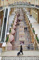 Russie, Moscou, Place Rouge, centre commercial de luxe Goum de style néo-russe datant de 1893 // Russia, Moscow, Red Square, GUM department store built in 1893