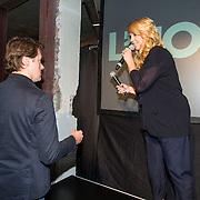 NLD/Amsterdam/20140416 - Presentatie L' Homo 2014, Linda de Mol en partner Jeroen Rietbergen