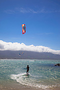 Kiteboarding, Kite Beach, Kanaha Beach, Maui, hawaii