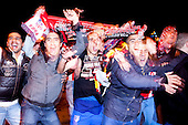 Atletico Madrid Supporters Celebrate At The Neptuno Square the King's cup victory