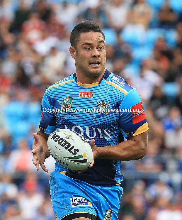 JARRYD HAYNE (Gold Coast Titans) - PHOTO: Scott Powick Daily News - 7th August 2016 - Action from the National Rugby League (NRL) Round 22 clash between the Gold Coast Titans v New Zealand Warriors played at Cbus Super Stadium, Robina on the Gold Coast.