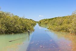 A 10.2m high tide at Streeters Jetty in Dampier Terrace, Broome.