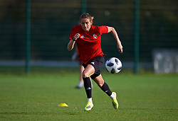 NEWPORT, WALES - Tuesday, November 6, 2018: Wales' Kayleigh Green during a training session at Dragon Park ahead of two games against Portugal. (Pic by Paul Greenwood/Propaganda)