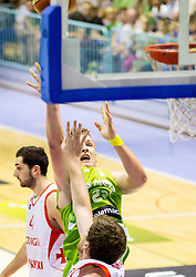 Alen Omic of Slovenia during friendly basketball match between National teams of Slovenia and Georgia in day 2 of Adecco Cup 2014, on July 25, 2014 in Dvorana OS 1, Murska Sobota, Slovenia. Photo by Vid Ponikvar / Sportida.com