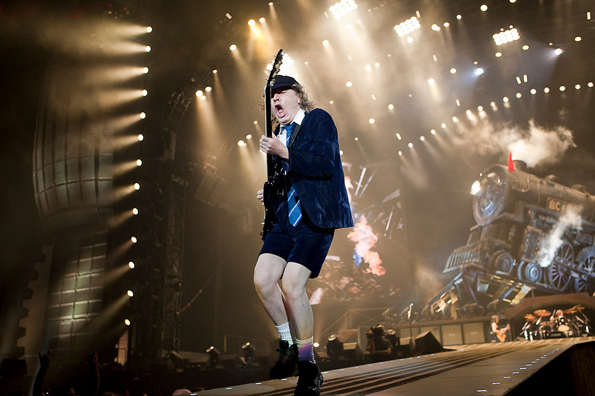 Montreal August 8, 2009 - Angus Young of the legendary AC/DC performs at Montreal's Olympic Stadium. (THE GAZETTE/Tim Snow)