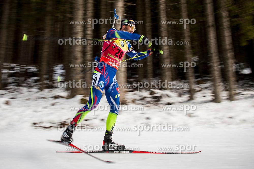 Martin Fourcade (FRA) during Men 10 km Sprint at day 1 of IBU Biathlon World Cup 2015/16 Pokljuka, on December 17, 2015 in Rudno polje, Pokljuka, Slovenia. Photo by Urban Urbanc / Sportida
