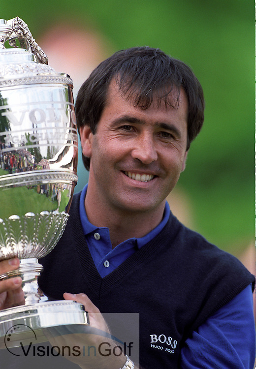 Seve Ballesteros 1991 Volvo PGA Championship Wentworth <br /> Picture Credit:  Mark Newcombe / www.visionsingolf.com