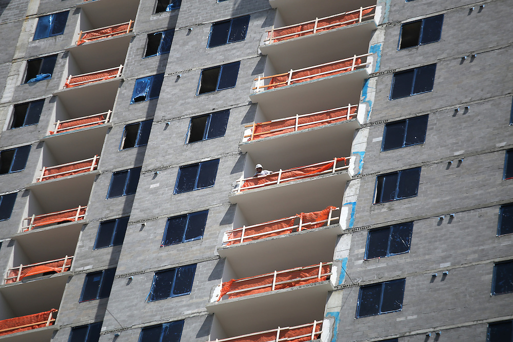 4/15/14----Miami, Florida---Photo by Angel Valentin<br /> Construction under way at Nine at Mary Brickell Village in Miami's Brickell neighborhood.