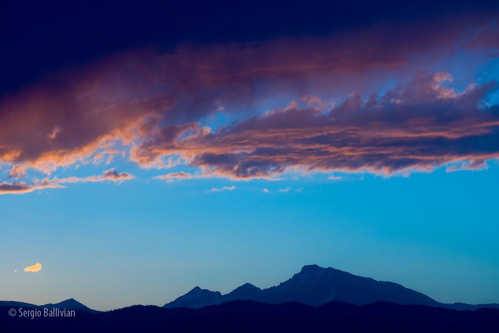 Long's Peak in the Rocky Mountain National Park at sunset