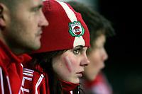 Fotball , 8. november 2006 , 1. kamp , kvalifisering til Tippeligaen , Odd - Bryne 3-0<br /> illustrasjon , Bryne supporter , supportere , fan fans