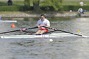 Gent, BELGIUM, Men's Single, MSA 1X, GBR M1X, Tideway Scullers Gareth SHARPE, winning the final at the  International Belgian Rowing Championships, Sunday 10/05/2009, [Mandatory Credit. Peter Spurrier/Intersport Images]