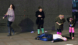 © under license to London News Pictures. FILE PICTURE: Drinking in Manchester city centre. 22/11/2010: On Friday 26th November, The Association of Greater Manchester Authorities will meet to discuss a bylaw which would ban the sale of alcohol at less than 50 pence per unit.