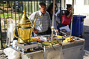 Street vendor selling Chestnuts from a mobile stall, Athens, Greece