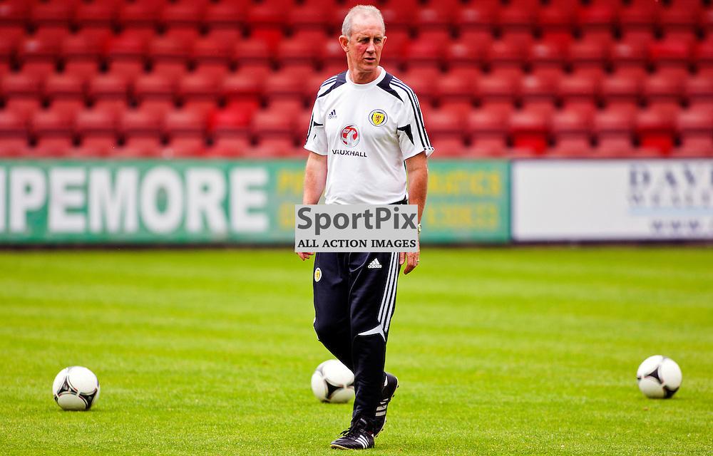 Scotland U21 Training Session East End Park 13 August 2012..Billy Stark takes training...(c) Craig Brown   StockPix.eu